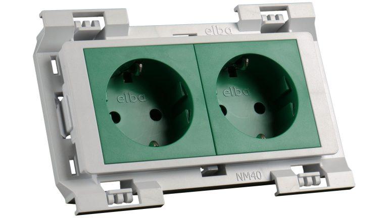 2521z at-mod šuko vtičnica zelena 2x230v (4m)-kpl fit