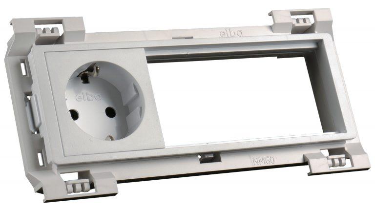 35111 at-mod šuko vtičnica bela 1x230v (6m) -kpl fit