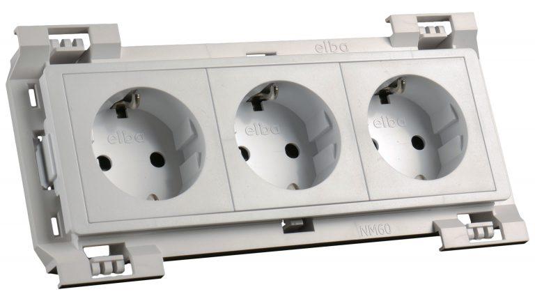 35311 at-mod šuko vtičnica bela 3x230v (6m) -kpl fit