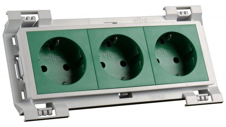 3531z at-mod šuko vtičnica zelena 3x230v (6m) -kpl fit